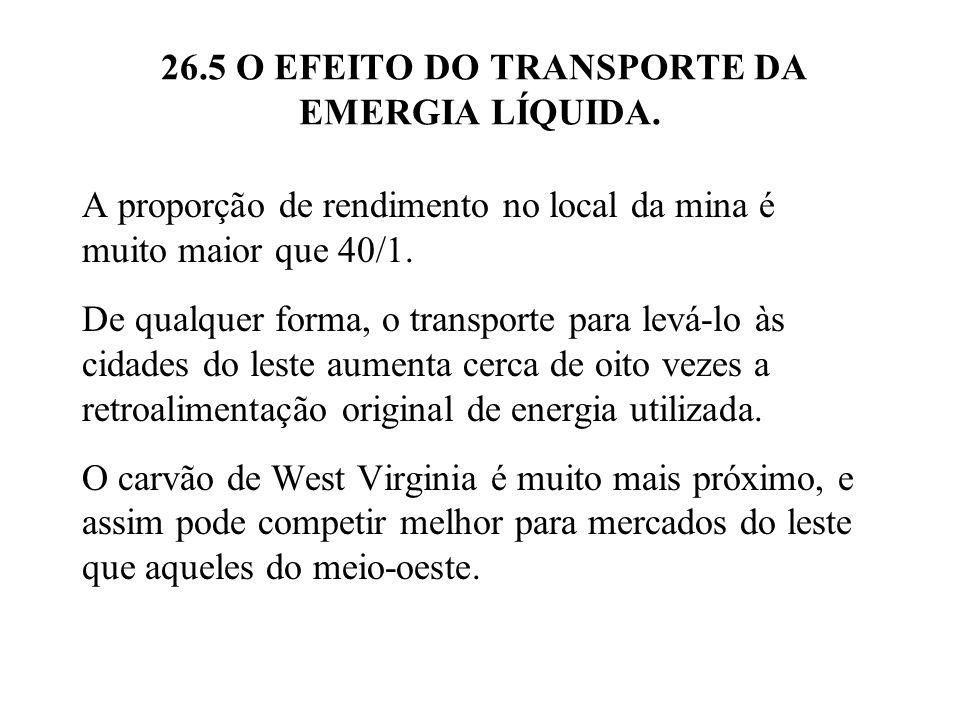 26.5 O EFEITO DO TRANSPORTE DA EMERGIA LÍQUIDA.