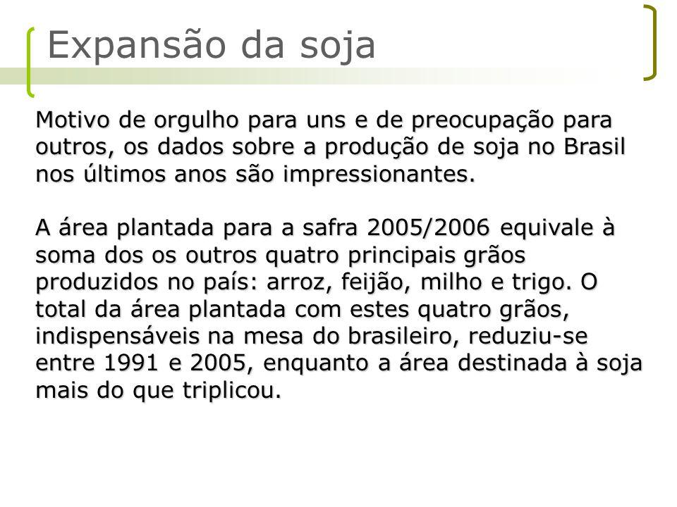 Motivo de orgulho para uns e de preocupação para outros, os dados sobre a produção de soja no Brasil nos últimos anos são impressionantes. A área plan