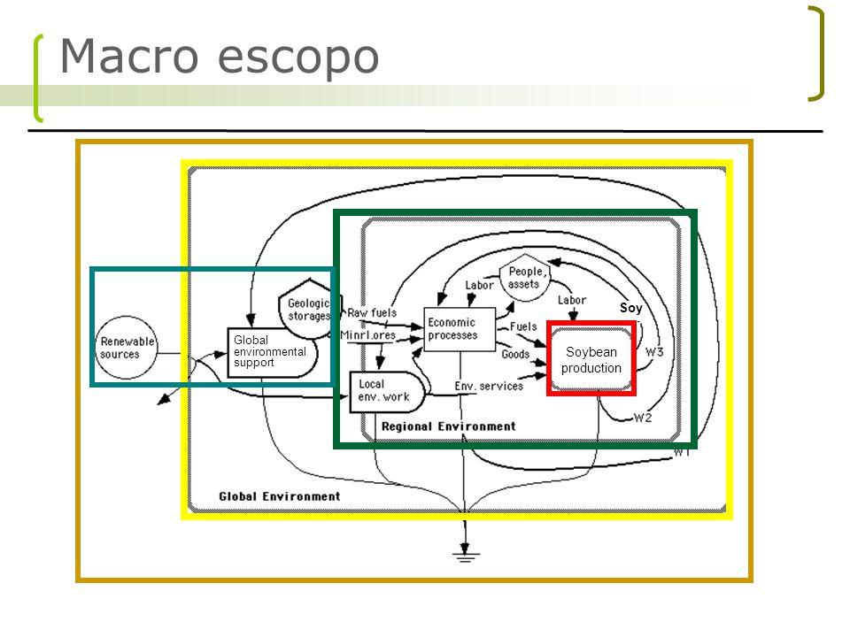 Análise de Fluxo de Massa: Massa indireta degradada no processo - ( Ecological back-pack Hinterberger and Schiller, 1998) Diagnóstico Emergético: Contibuições diretas e indiretas em energia solar equivalente - (Odum, 1983; 1996) Analise Energetica: Energia comercial usada - (Slesser, 1974 Herendeen, 1998) Análise Exergetica: Eficiencia termodinâmica do processo - (Szargut and Morris, 1998) Metodologias usadas