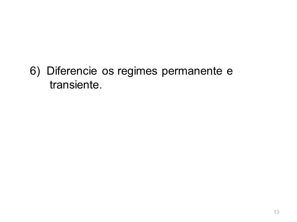 6) Diferencie os regimes permanente e transiente. 13