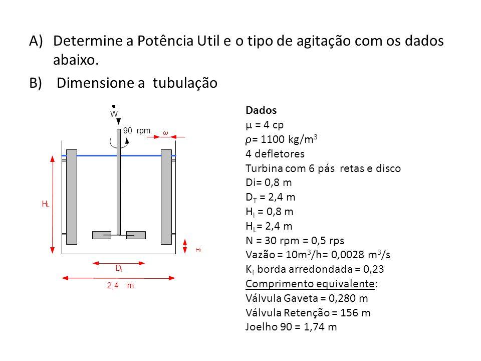 C) Determine a altura de projeto.D) Selecione a bomba e faça todas as considerações necessárias.