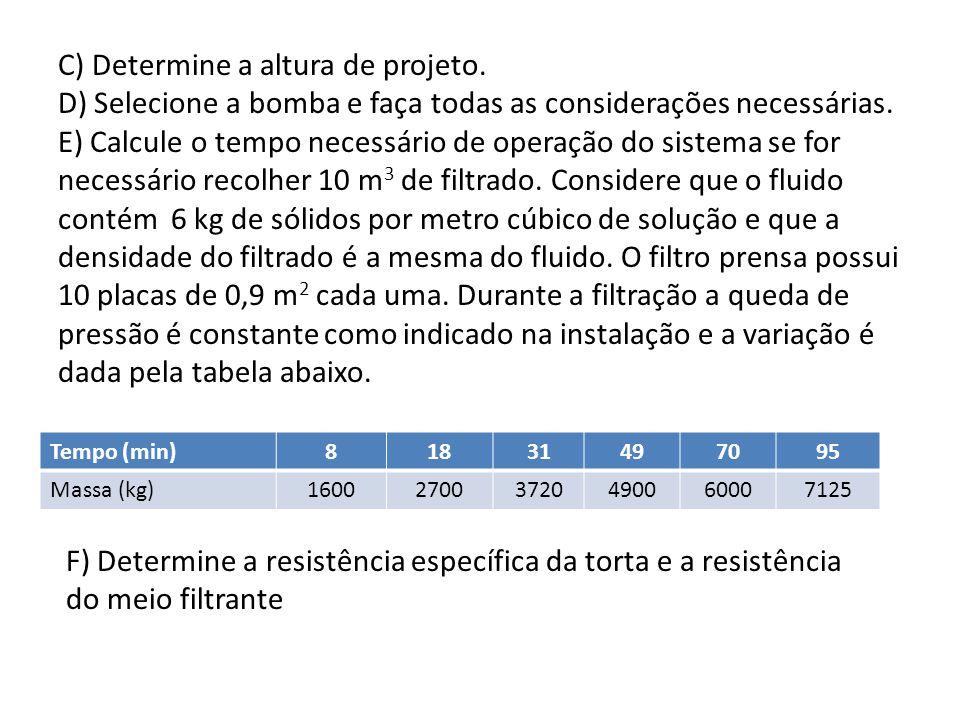 A)Determine a Potência Util e o tipo de agitação com os dados abaixo.