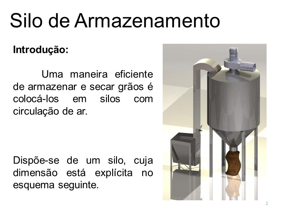 Silo de Armazenamento e) nas paredes do silo (3 até 4): Calculando f através do diagrama de Moody e Re, tem-se: Logo: 13