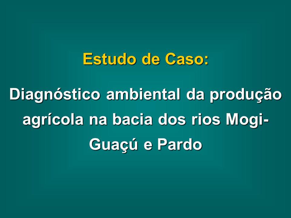 Estudo de Caso: Diagnóstico ambiental da produção agrícola na bacia dos rios Mogi- Guaçú e Pardo