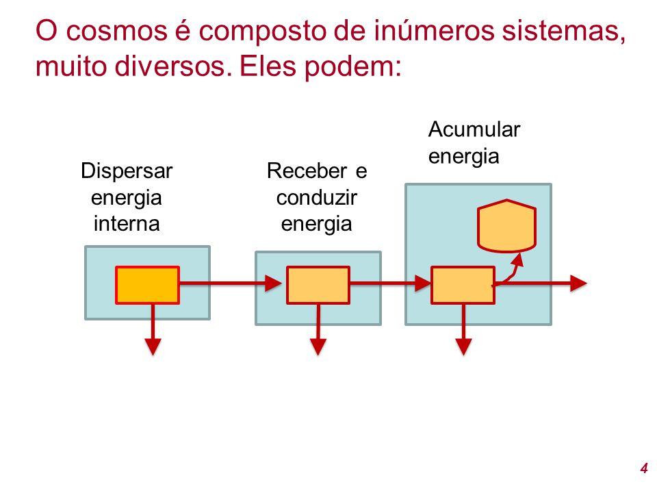5 Os sistemas no cosmos evoluem e podem: Transformar energia, criar acúmulos (biomassa, estruturas, organização e informação) e desenvolver laços de retro-alimentação As unidades se acoplam em redes e pulsam (crescem e decrescem) com diversas freqüências