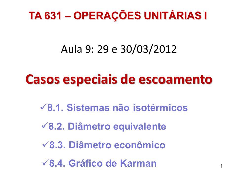 Aula 9: 29 e 30/03/2012 Casos especiais de escoamento 8.1.