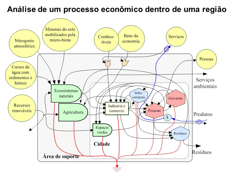 Análise de um processo econômico dentro de uma região