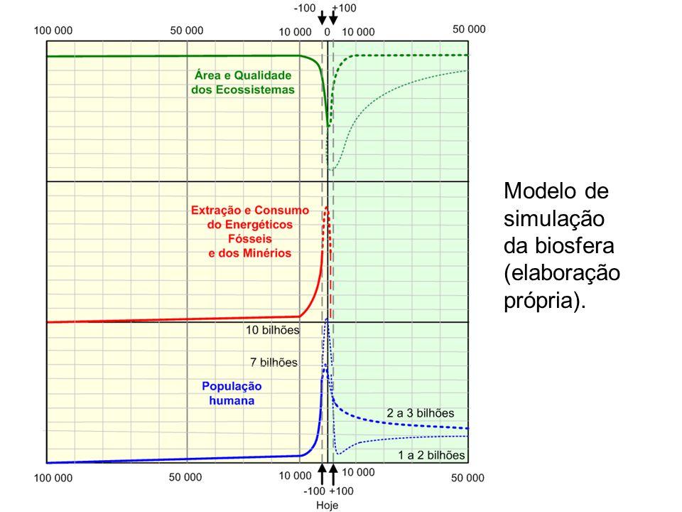 Modelo de simulação da biosfera (elaboração própria).