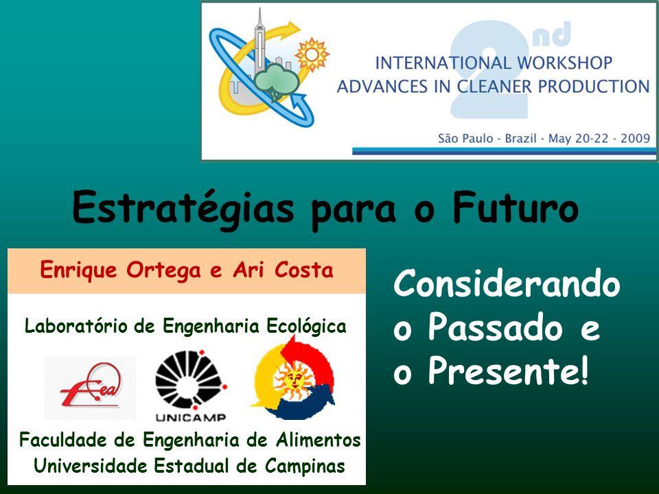 Enrique Ortega e Ari Costa Faculdade de Engenharia de Alimentos Laboratório de Engenharia Ecológica Universidade Estadual de Campinas Estratégias para
