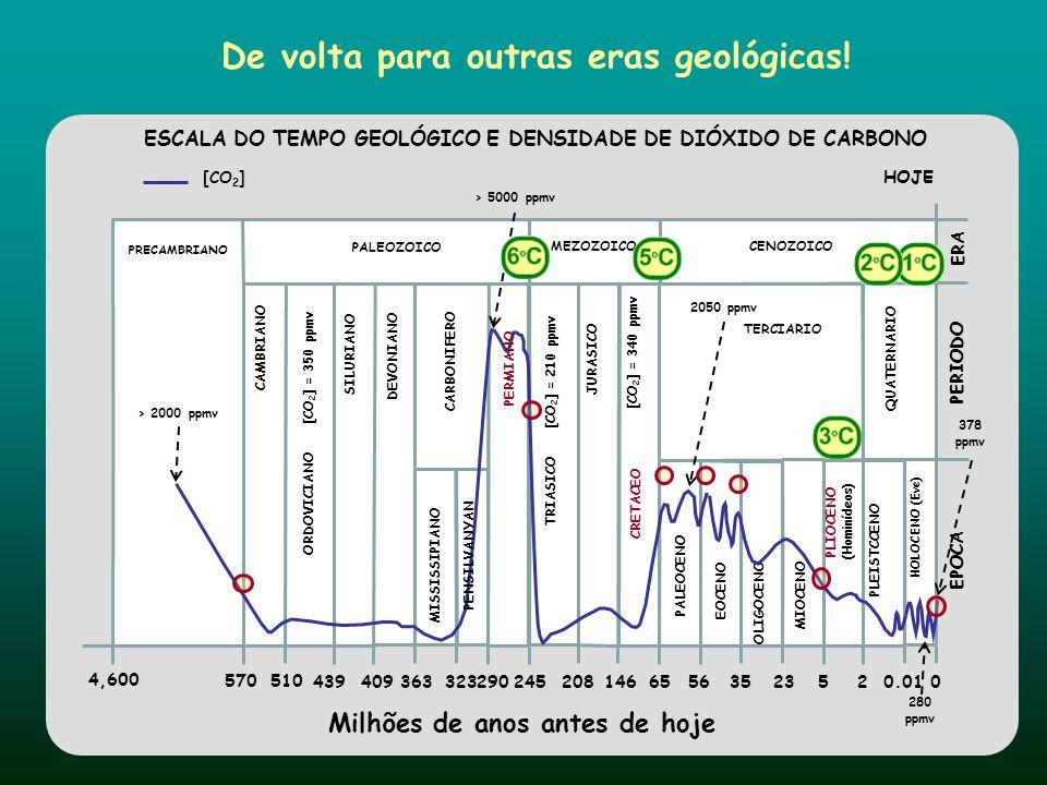 De volta para outras eras geológicas! ESCALA DO TEMPO GEOLÓGICO E DENSIDADE DE DIÓXIDO DE CARBONO
