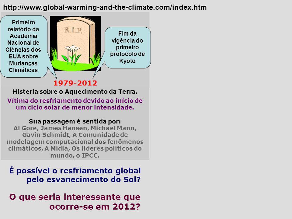 O que seria interessante que ocorre-se em 2012? http://www.global-warming-and-the-climate.com/index.htm É possível o resfriamento global pelo esvaneci