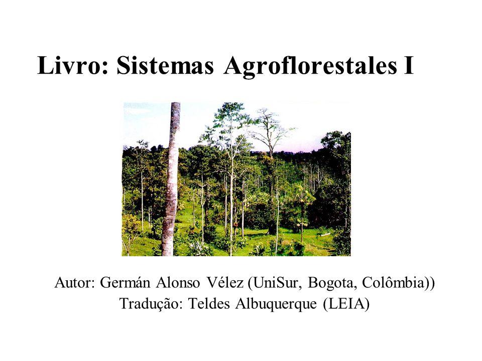 Livro: Sistemas Agroflorestales I Autor: Germán Alonso Vélez (UniSur, Bogota, Colômbia)) Tradução: Teldes Albuquerque (LEIA)