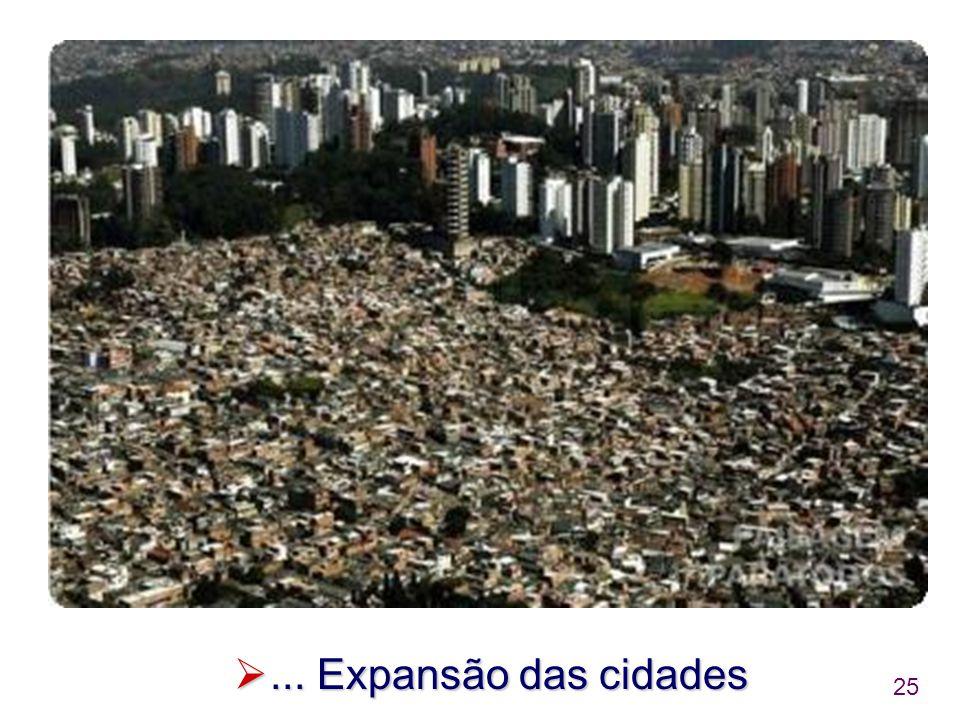 25 ... Expansão das cidades