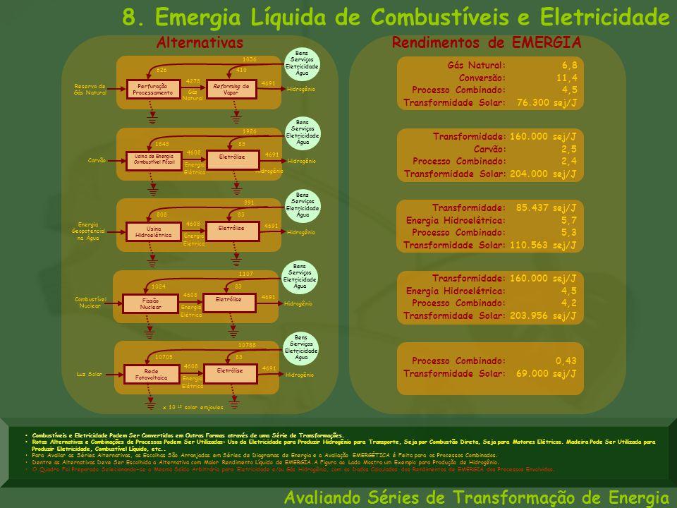 8. Emergia Líquida de Combustíveis e Eletricidade Hidrogênio 4691 Bens Serviços Eletricidade Água Gás Natural Perfuração Processamento 626 1036 410 42