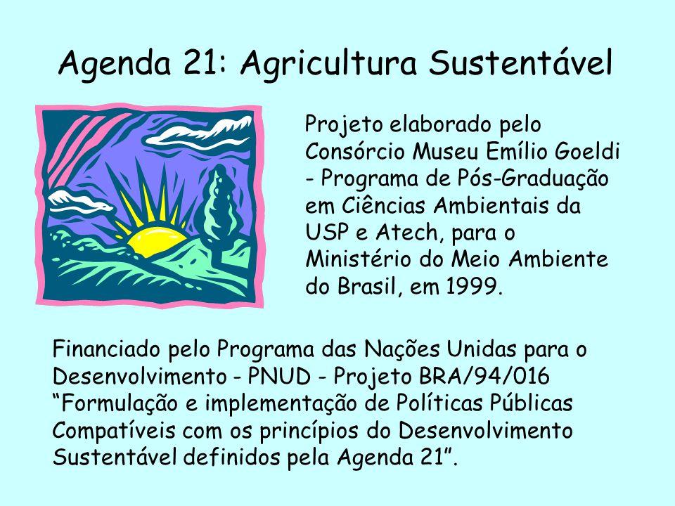Agenda 21: Agricultura Sustentável Projeto elaborado pelo Consórcio Museu Emílio Goeldi - Programa de Pós-Graduação em Ciências Ambientais da USP e At