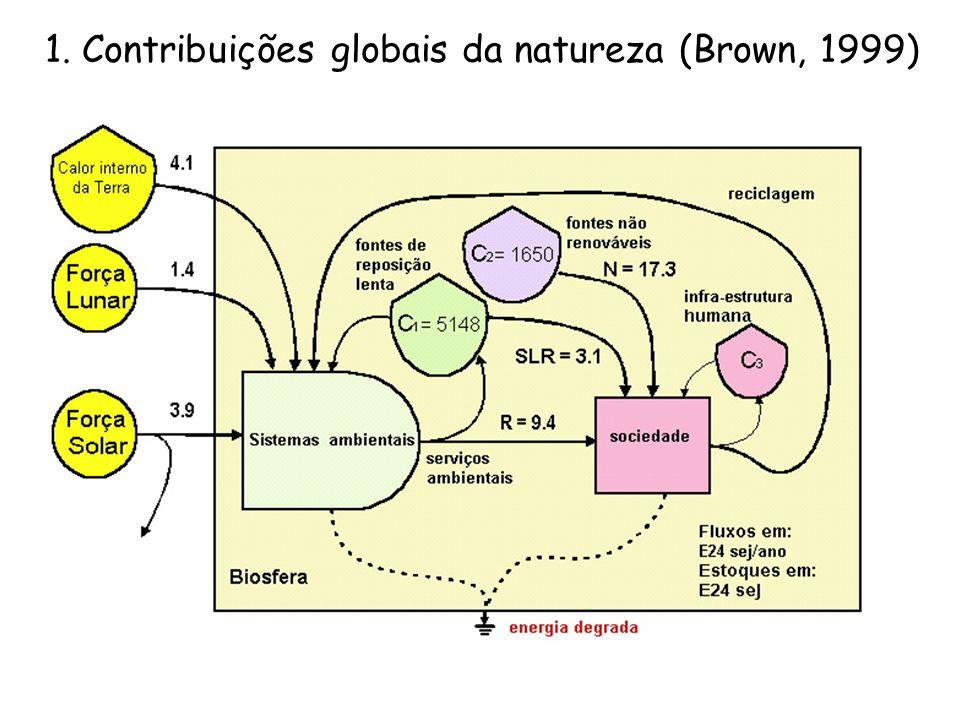 1. Contribuições globais da natureza (Brown, 1999)