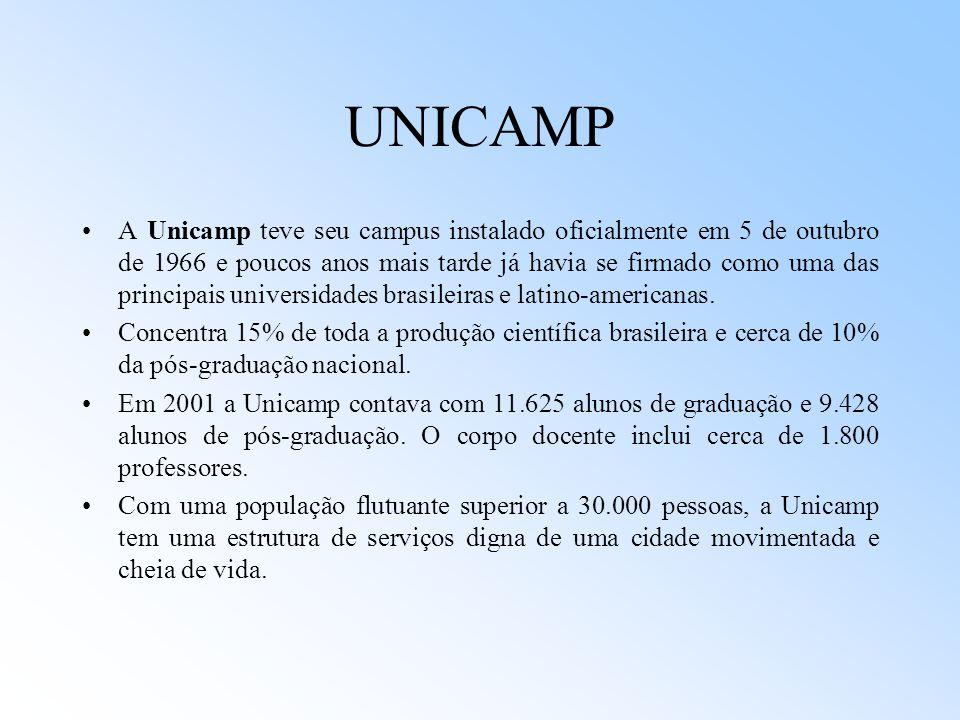 UNICAMP A Unicamp teve seu campus instalado oficialmente em 5 de outubro de 1966 e poucos anos mais tarde já havia se firmado como uma das principais