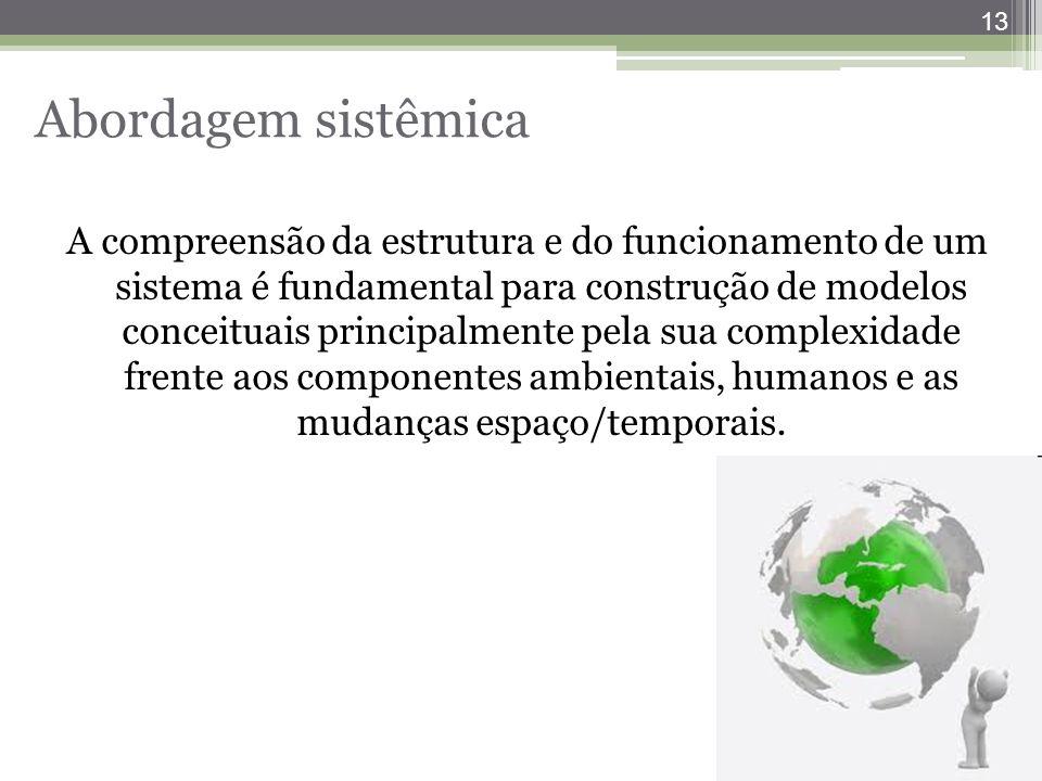 13 Abordagem sistêmica A compreensão da estrutura e do funcionamento de um sistema é fundamental para construção de modelos conceituais principalmente