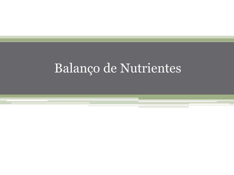 26 Balanço de Nutrientes