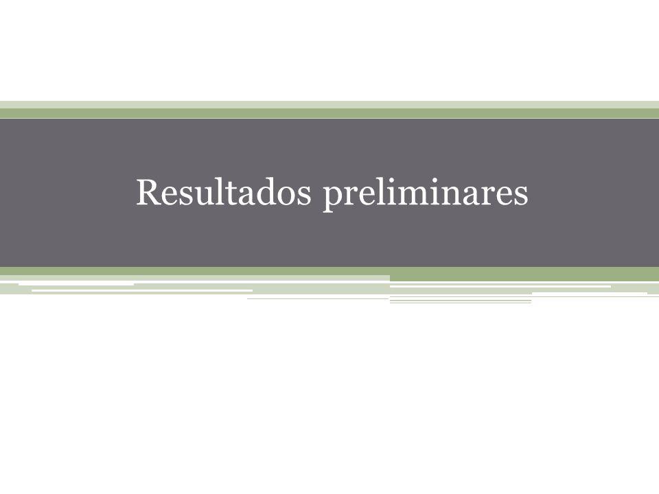 40 Resultados preliminares