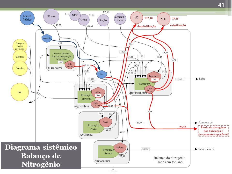 41 Diagrama sistêmico Balanço de Nitrogênio