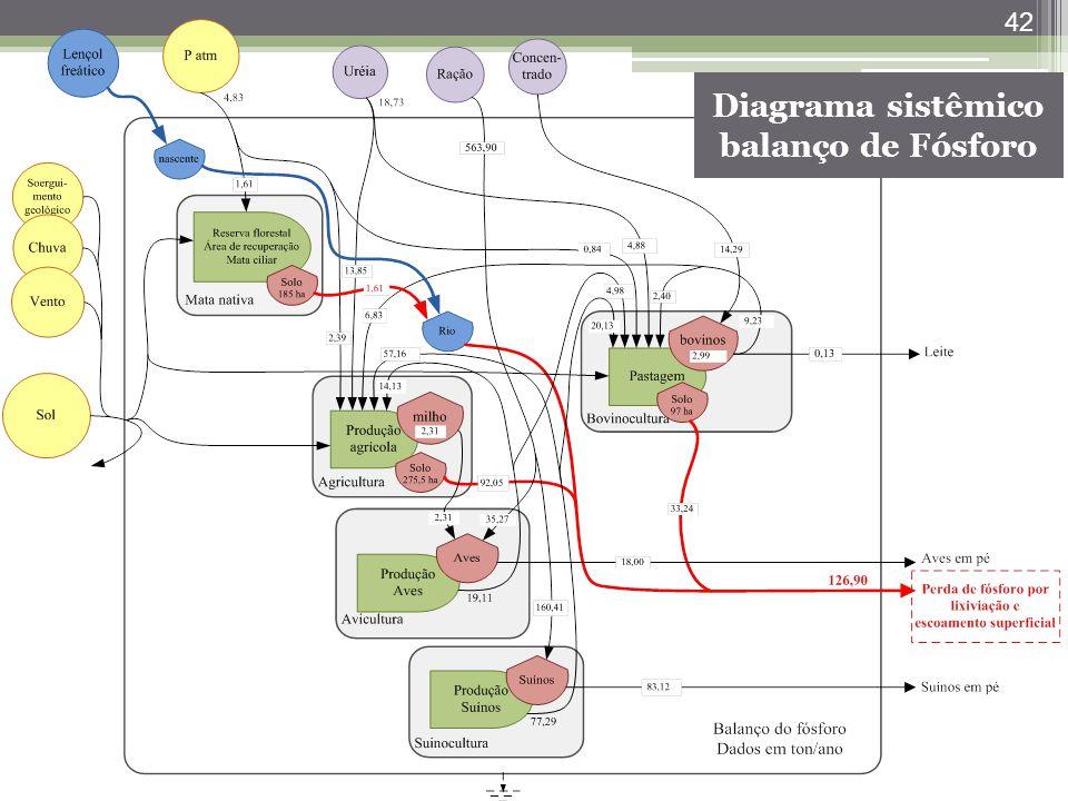 42 Diagrama sistêmico balanço de Fósforo