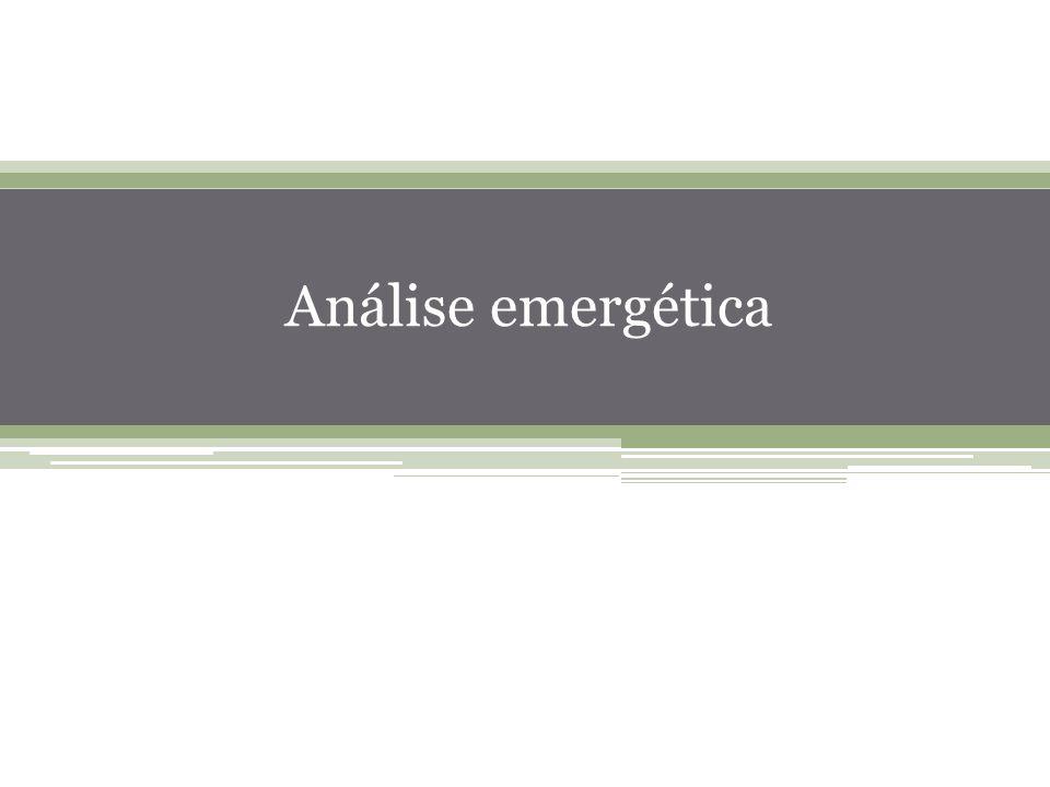 47 Análise emergética