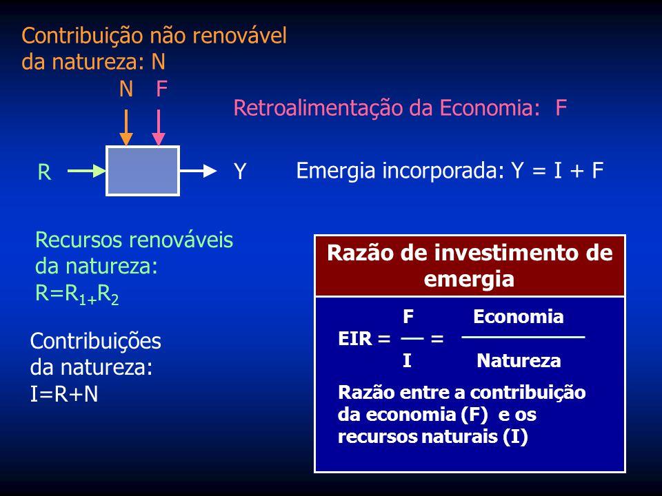 2. Montar a Tabela de Avaliação Emergética A coluna # 6 É o valor real da riqueza estimado em emdolares. Este valor é obtido dividindo-se a emergia na