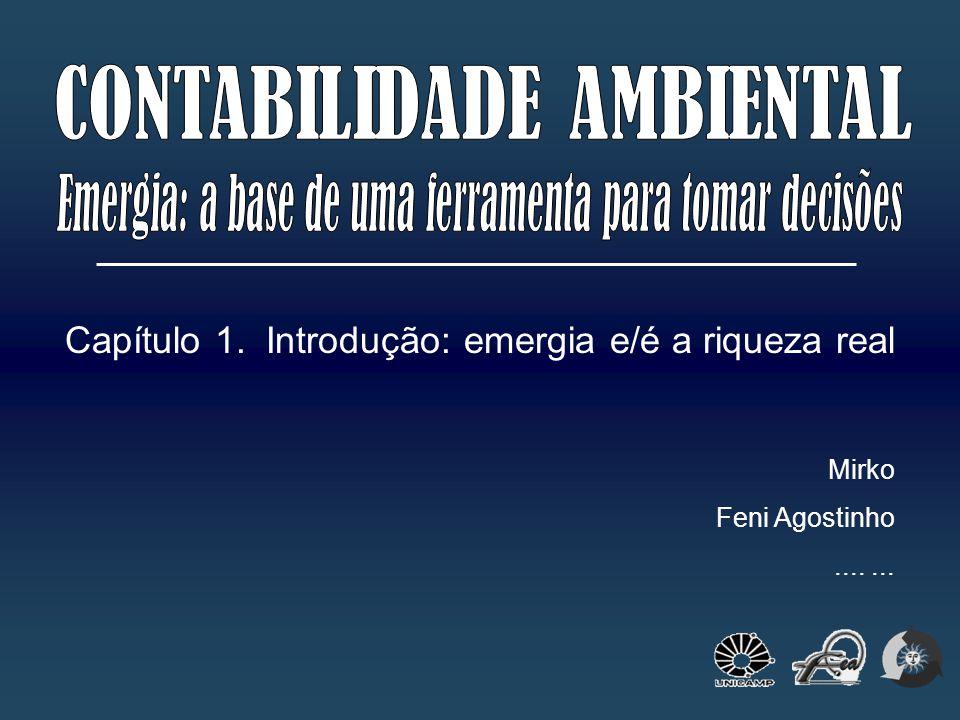 Capítulo 1. Introdução: emergia e/é a riqueza real Mirko Feni Agostinho.......