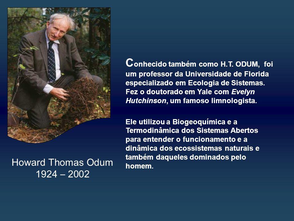 Howard Thomas Odum 1924 – 2002 C onhecido também como H.T.
