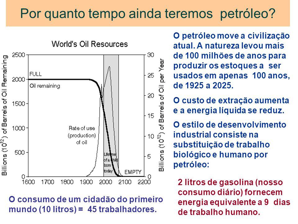 Por quanto tempo ainda teremos petróleo? O petróleo move a civilização atual. A natureza levou mais de 100 milhões de anos para produzir os estoques a