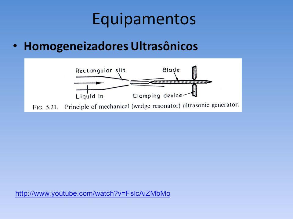 Homogeneizadores Ultrasônicos http://www.youtube.com/watch?v=FslcAiZMbMo Equipamentos
