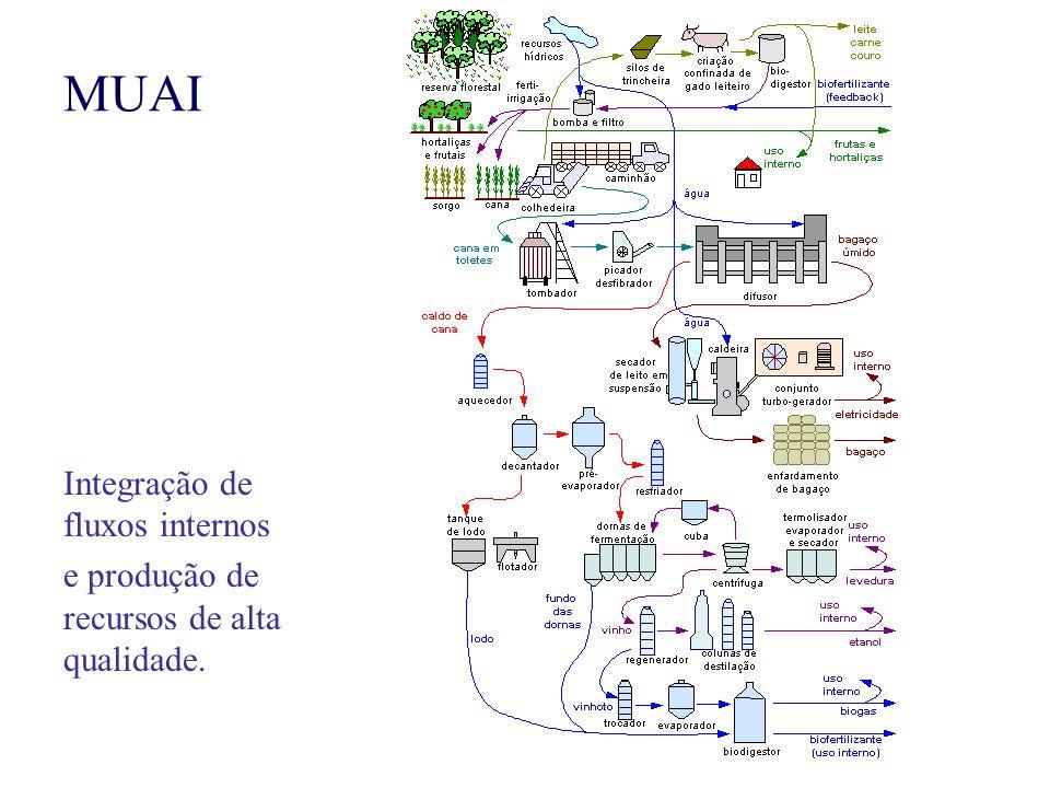 MUAI Integração de fluxos internos e produção de recursos de alta qualidade.