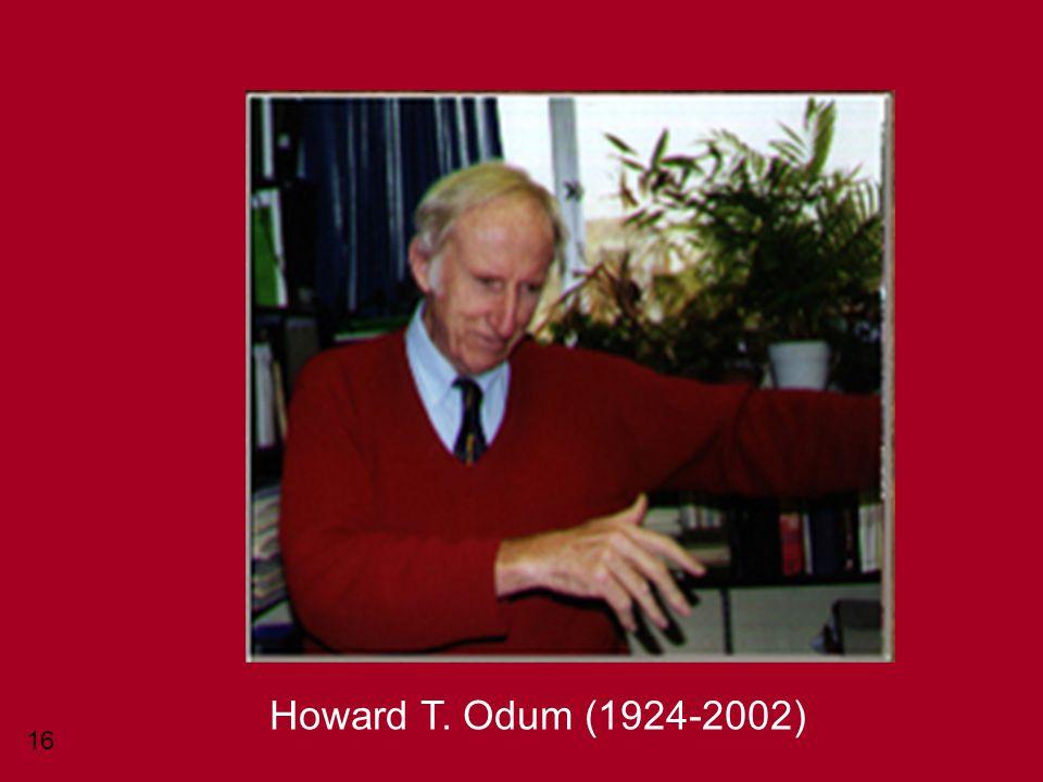 16 Howard T. Odum (1924-2002)