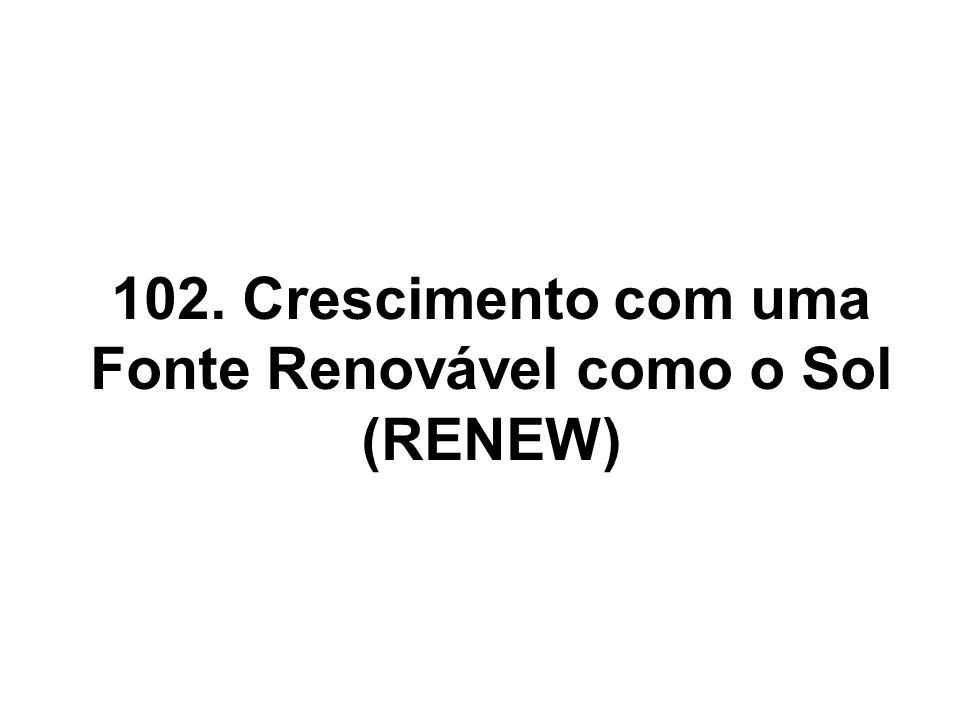 102. Crescimento com uma Fonte Renovável como o Sol (RENEW)