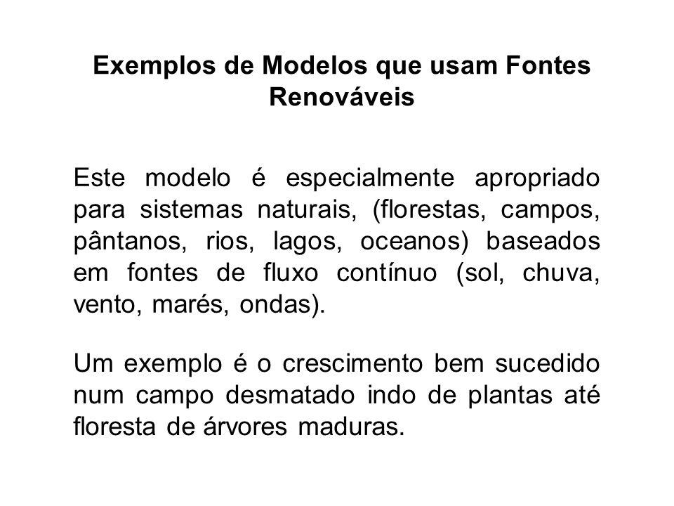 Este modelo é especialmente apropriado para sistemas naturais, (florestas, campos, pântanos, rios, lagos, oceanos) baseados em fontes de fluxo contínu