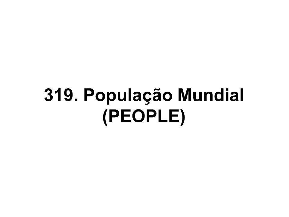 319. População Mundial (PEOPLE)