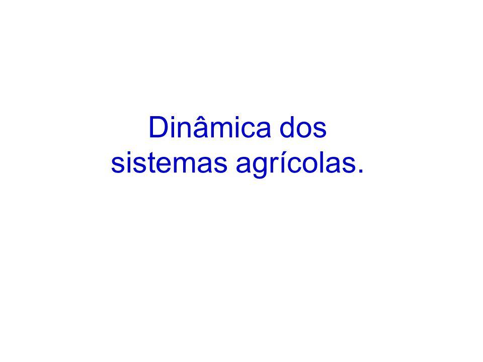 Dinâmica dos sistemas agrícolas.