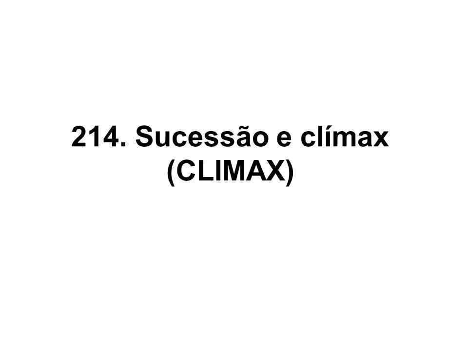 214. Sucessão e clímax (CLIMAX)