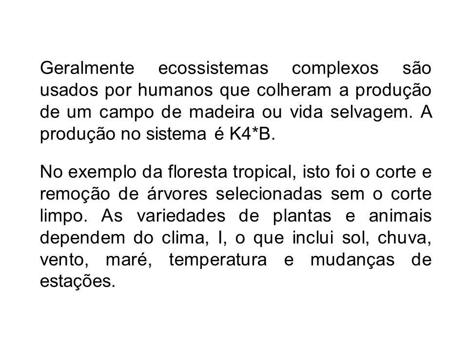 No exemplo da floresta tropical, isto foi o corte e remoção de árvores selecionadas sem o corte limpo.