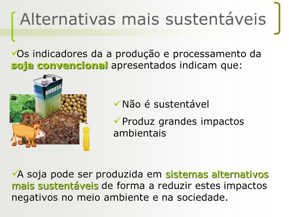 Os indicadores da a produção e processamento da soja convencional apresentados indicam que: Os indicadores da a produção e processamento da soja conve
