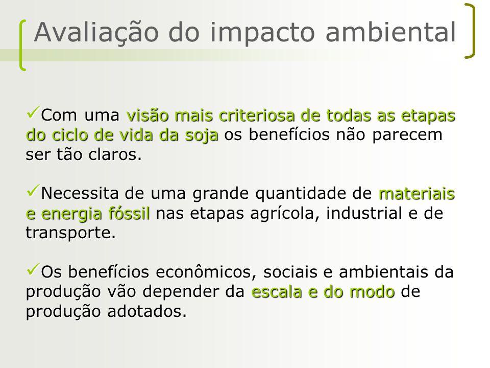 A avaliação quantitativa da produção, processamento e exportação de soja do Brasil para a Europa mostrou que os impactos ambientais são muito grandes.
