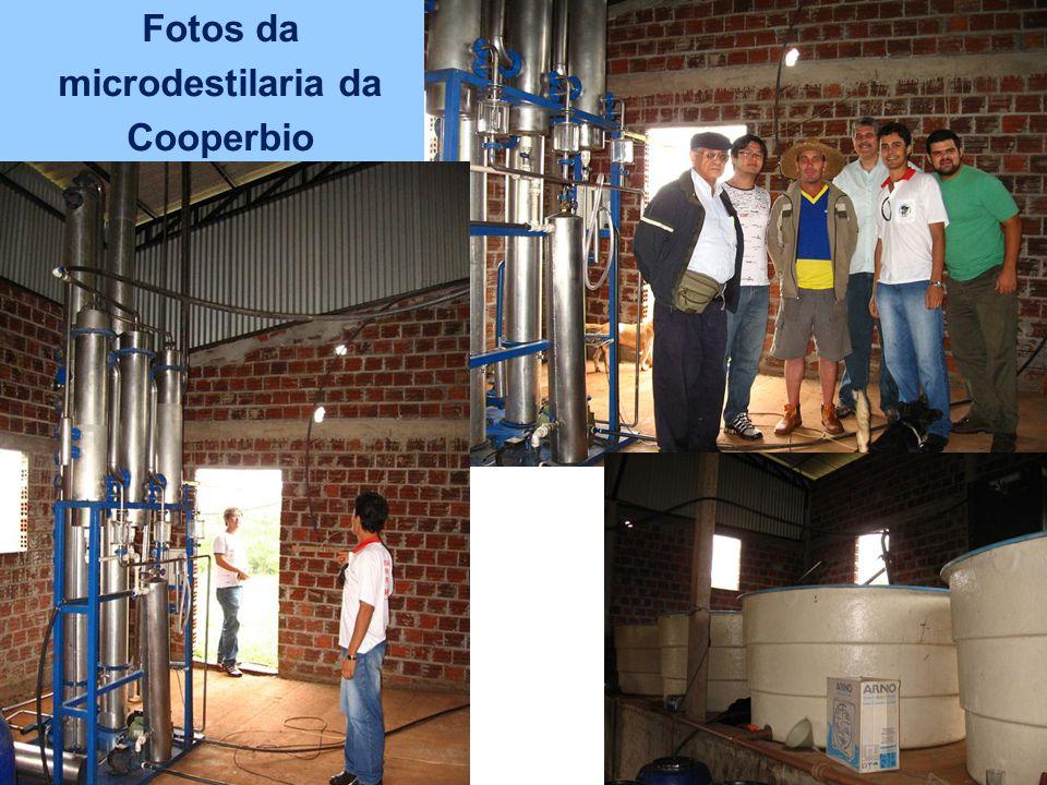 Fotos da microdestilaria da Cooperbio