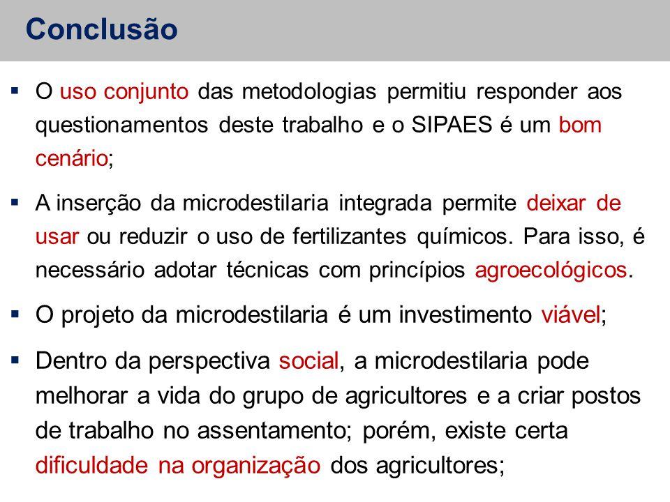 Conclusão  O uso conjunto das metodologias permitiu responder aos questionamentos deste trabalho e o SIPAES é um bom cenário;  A inserção da microde