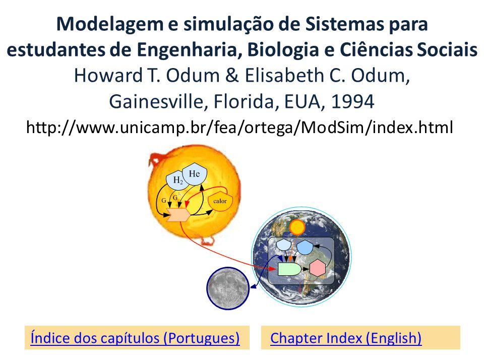 Índice dos capítulos (Portugues) Chapter Index (English) Modelagem e simulação de Sistemas para estudantes de Engenharia, Biologia e Ciências Sociais Howard T.