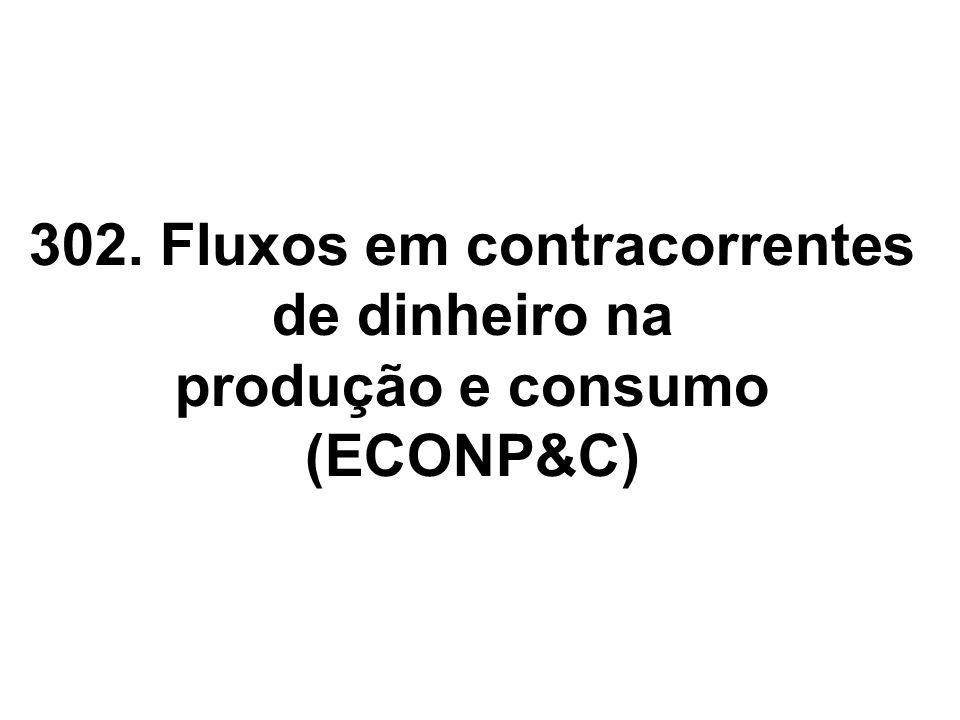 302. Fluxos em contracorrentes de dinheiro na produção e consumo (ECONP&C)