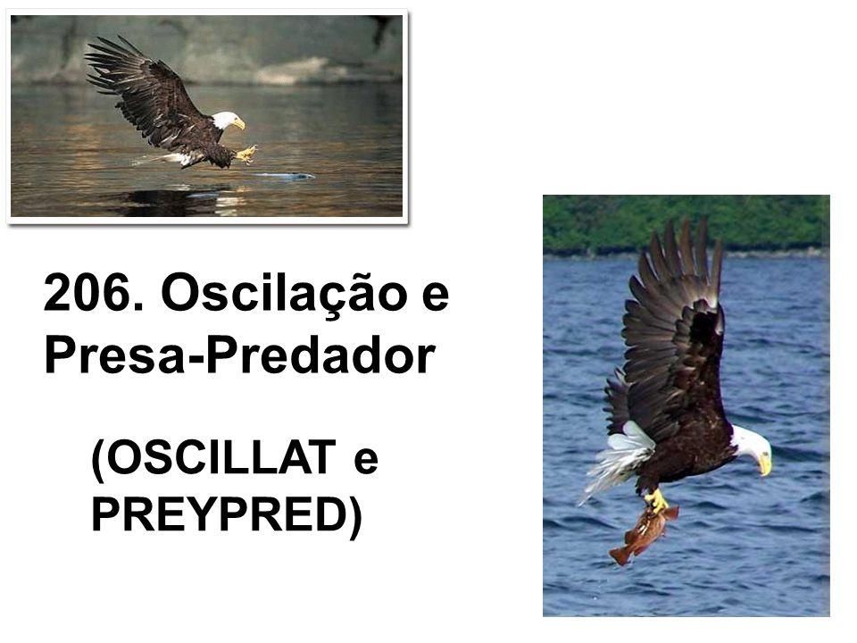 206. Oscilação e Presa-Predador (OSCILLAT e PREYPRED)