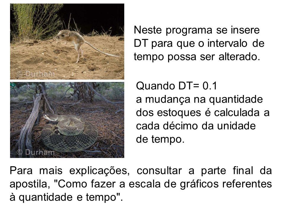 Neste programa se insere DT para que o intervalo de tempo possa ser alterado.