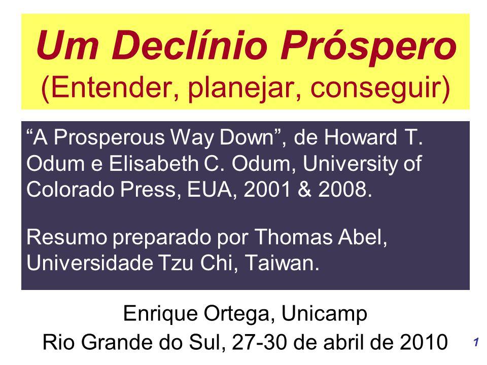 1 Um Declínio Próspero (Entender, planejar, conseguir) A Prosperous Way Down , de Howard T.