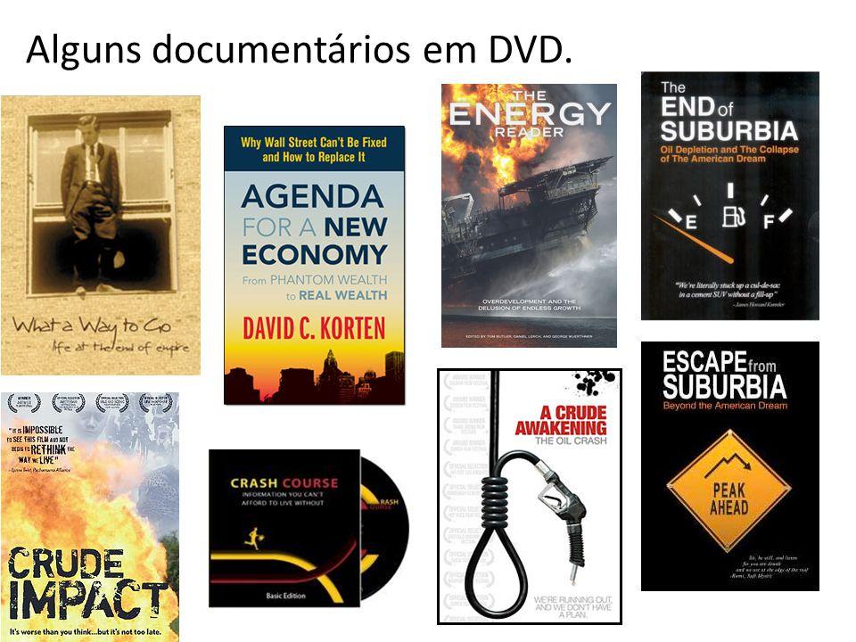 Alguns documentários em DVD.